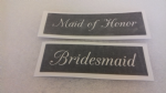 1 - 100  x Bridesmaid & Maid of Honor word stencils (mixed) for etching on glass  craft hobby glassware  wedding favor gift present
